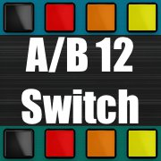 A/B 12 Stereo Audio Inputs Switch